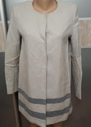 Пиджак лен удлиненный
