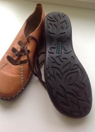 Кожаные туфли ботинки мокасины бохо