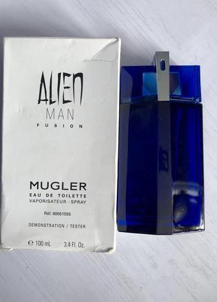 Mugler alien man fusion оригинал тестер 100ml