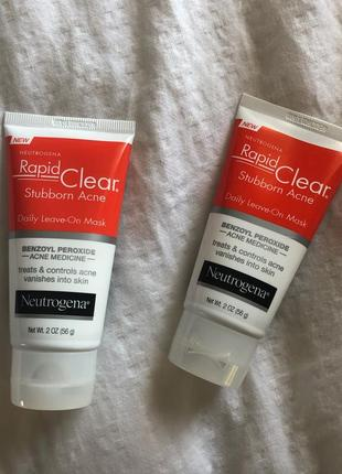 Neutrogena rapid clear stubborn acne daily leave-on mask несмываемая маска от акне прыщей