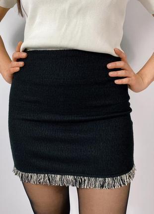 Новая юбка с бахромой от zara