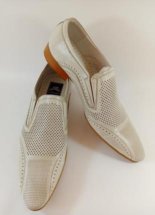 Туфли классические летние кожа. lido marinozzi размеры:41,42,43,45