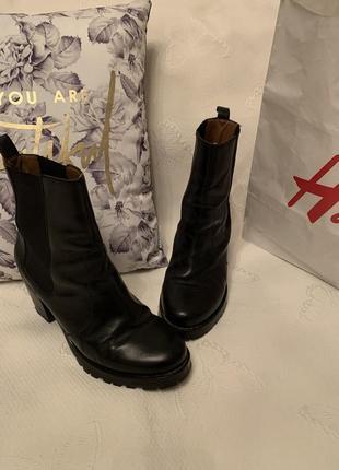 H&m ботинки челси кожа 41