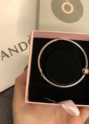 Pandora срібний браслет з вставкою rose оригінал