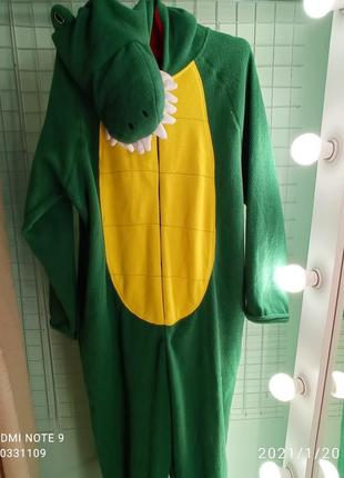 Зручна та прикольна піжама-кігурумі крокодил