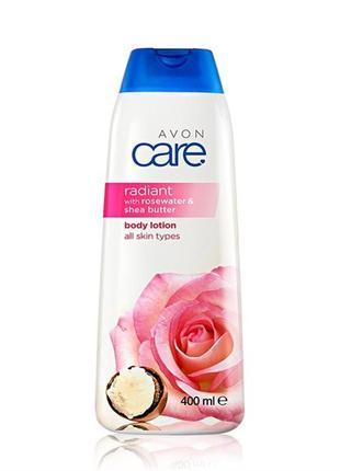 Лосьйон для тіла з рожевою водою та маслом ши «сяйво»