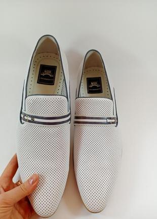 Туфли классические летние кожа. lido marinozzi размеры:39,40, 41,42,43, 44, 45
