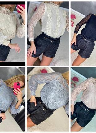 Блуза ажур4 фото