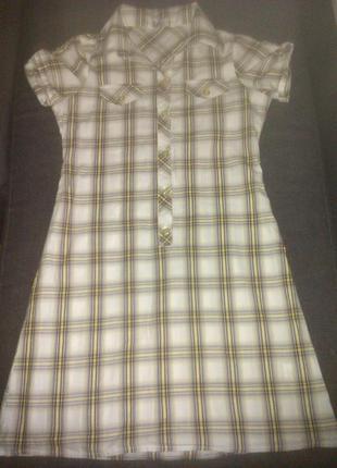 Платье рубашка туника подростковое