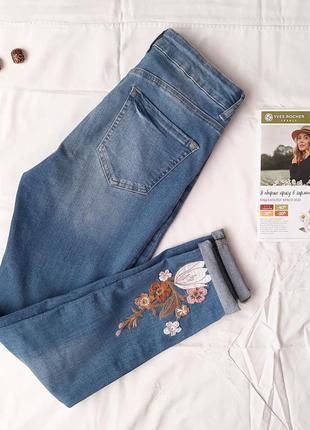 Джинсы с вышивкой, штаны, модные брюки, зауженые