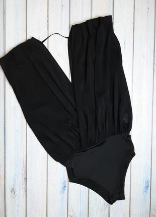 💥1+1=3 шикарное черное боди блуза copenhagen, размер 44 - 46