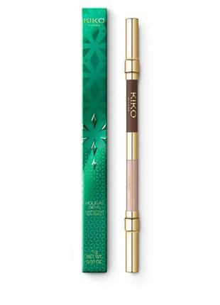 Двусторонний карандаш для глаз holiday gems lasting duo eye pencil kiko milano 01