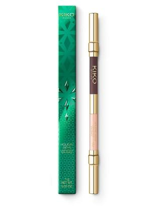 Двусторонний карандаш для глаз holiday gems lasting duo eye pencil kiko milano 02