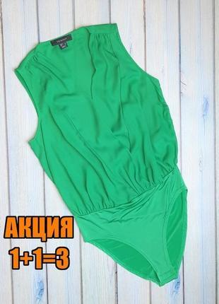 💥1+1=3 отличный яркий зеленый боди блуза primark, размер 44 - 46