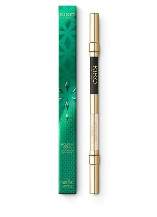 Двусторонний карандаш для глаз holiday gems lasting duo eye pencil kiko milano 04
