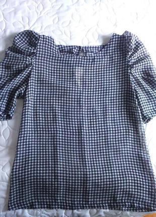 Шифоновая блузка oversize в гусиную лапку