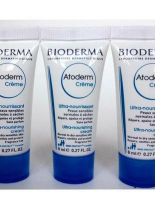 Bioderma atoderm cream увлажнение и защита сухой, чувствительной кожи лица и тела.