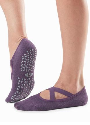 Носочки для йоги пилатеса tovi noir