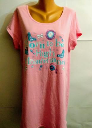 Классная ночнушка футболка 20-22/56-58 размера
