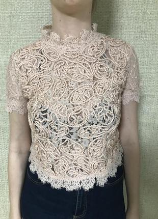 Блуза с коротким рукавом zara