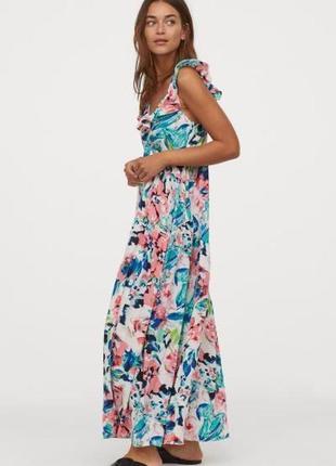 Шикарное цветочное макси платье. бестселлер. хит продаж