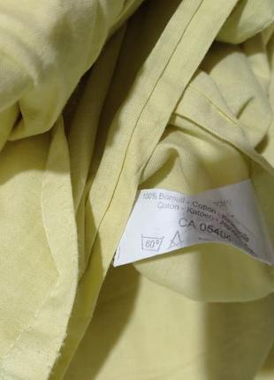 Светло-желтый наматрасник, простынь на резинках хлопок 💯 ikea