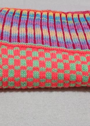 Яркое, разноцветное, красивое, мягкое вязанное одеяло плед для малышей
