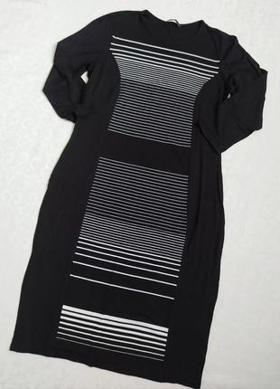 Платье marks & spencer черное рукав 3/4 размер xl