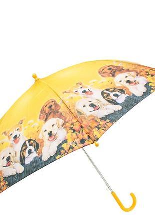 Зонт детский трость полуавтомат lamberti  собачки