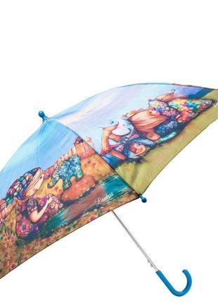 Зонт трость детский полуавтомат lamberti девочка и щенок