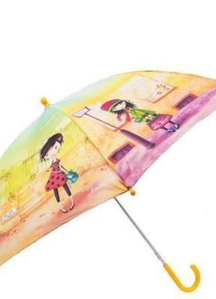 Зонт трость детский полуавтомат lamberti модницы