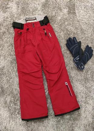 Зимние термо штаны (комбинезон), унисекс, 7-9 лет