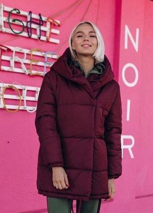 Куртка с капюшоном зимняя зима куртка-зефирка - зефирка курточка тёплая теплая