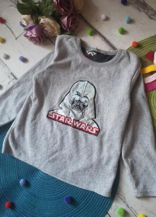 Флиска star wars 4-5 л, детский тёплый свитер, флисовая поддева для мальчика