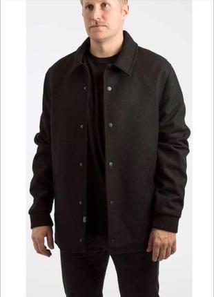 🔥 скидка - 20% 🔥 пальто черное шерстяное бренда wesc мужское