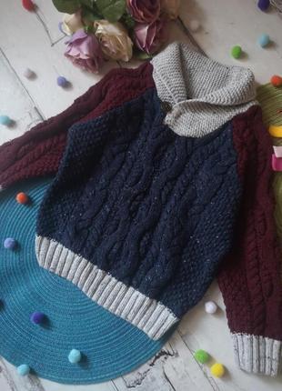 Свитер 92-98 см, детский вязаный свитер, джемпер детский, толстовка стильная для мальчика