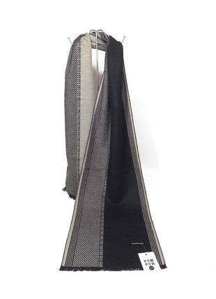 Шарф кашне мужской теплый тонкий кашемир однотонный черный серый новый качественный