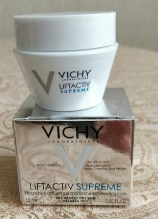 Крем для коррекции морщин и упругости кожи лица vichy liftactiv supreme