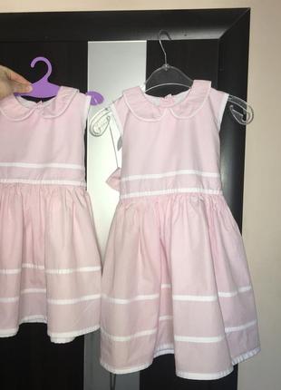 Платье розовое сукня