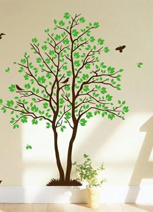"""Большая xxl виниловая интерьерная наклейка-стикер на стену """"дерево"""""""