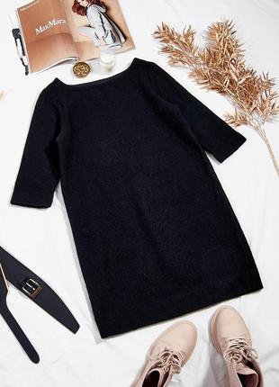 Шерстяное платье черное