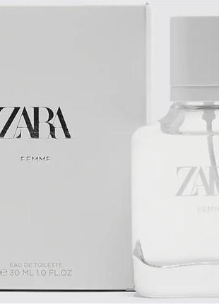 Zara femme edt 30 ml туалетна вода жіноча (оригінал іспанія)