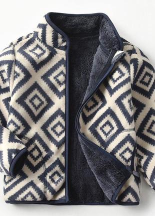 Кофта детская флисовая утепленная geometric pattern 56991-1