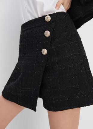 Твидовая юбка шорты mohito