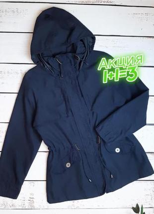 1+1=3 женская синяя куртка парка демисезон debenhams, размер 46 - 48