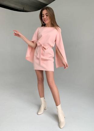 Очень красивое миди платье с  объемными рукавамы и поясом