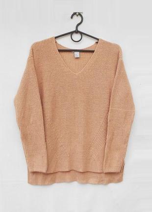 Вязаный свободный свитер с шерстью 🌿