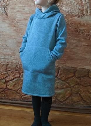 Платье туника удлиненное худи