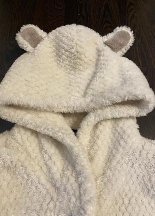 Махровый плюшевый теплый халат для девочки 140 146 152