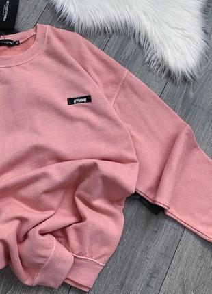 Розовый свитшот на флисе
